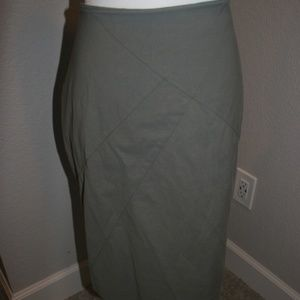DownEast gray tube skirt, fully lined